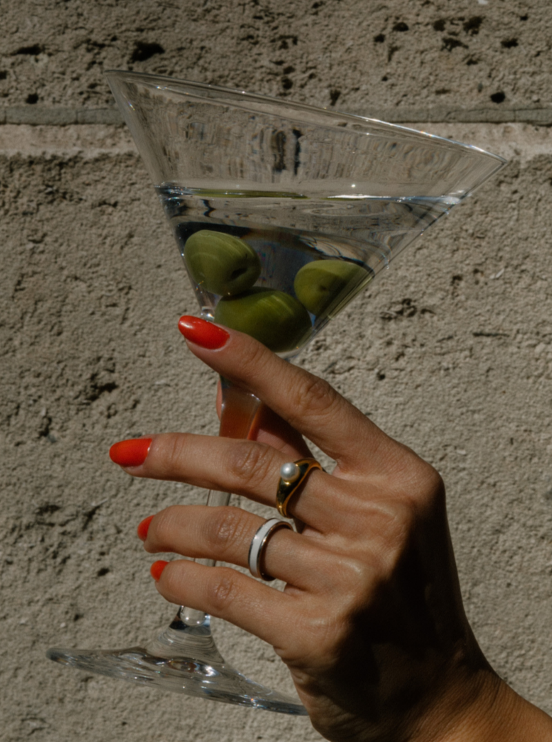 #Martini Collection# Pearl Ring