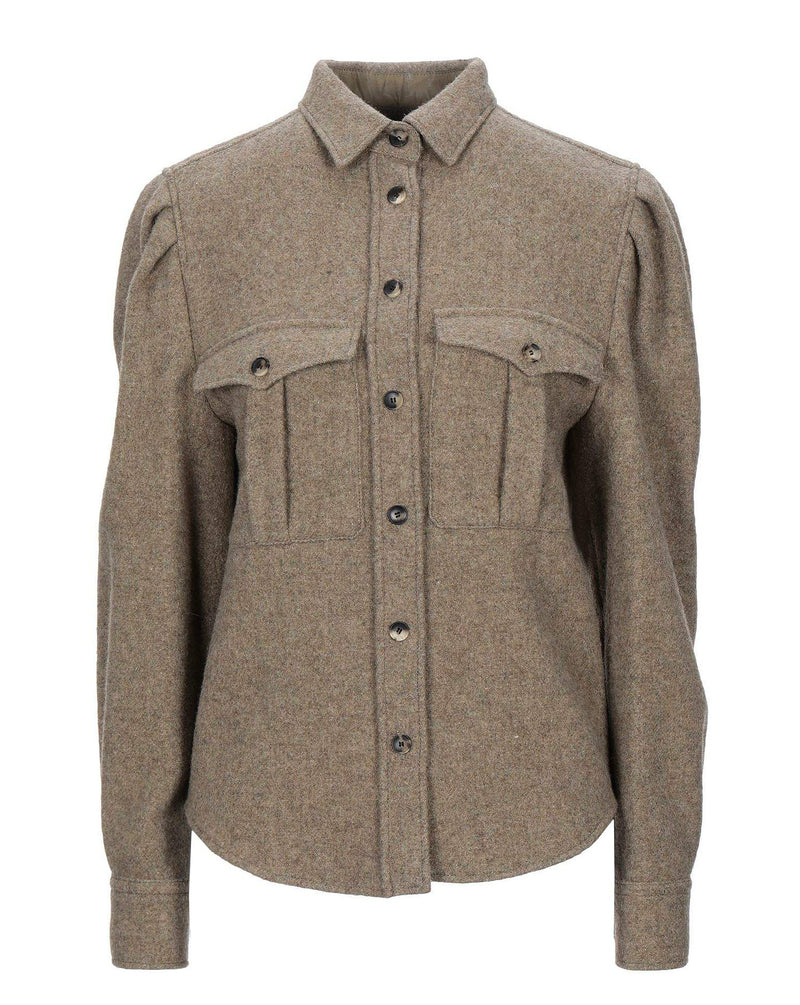 #COMFORTZONE# Olive Wool Shirt Jacket