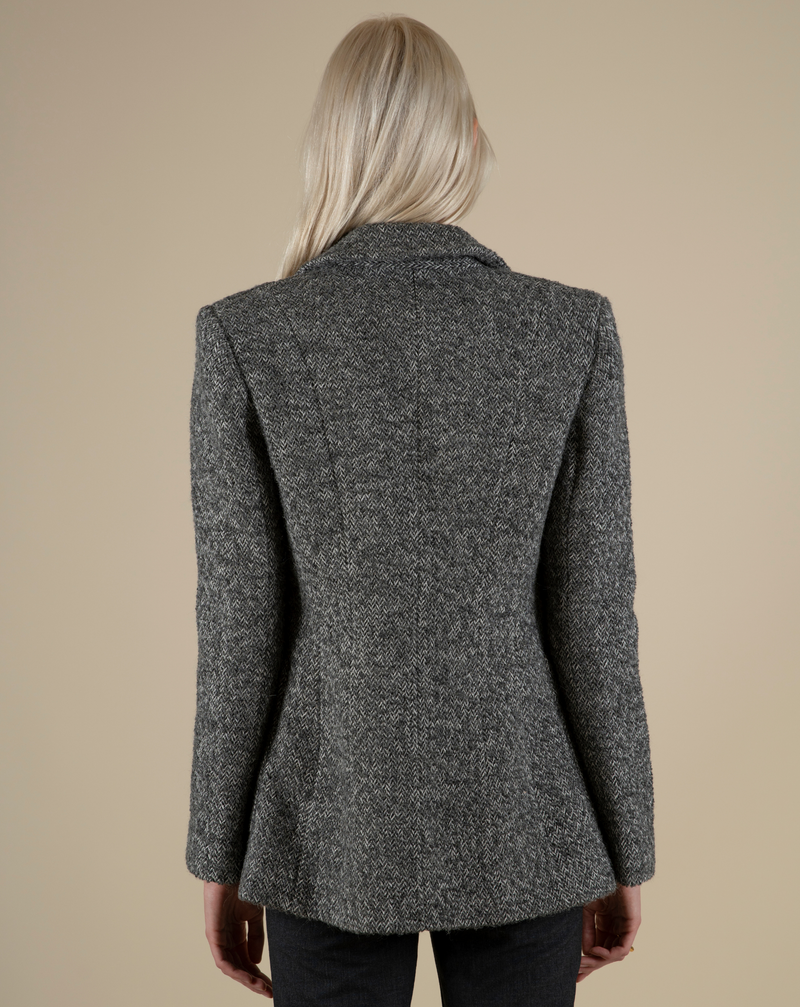 #The New Gentle# Italian Virgin Wool Herringbone Blazer