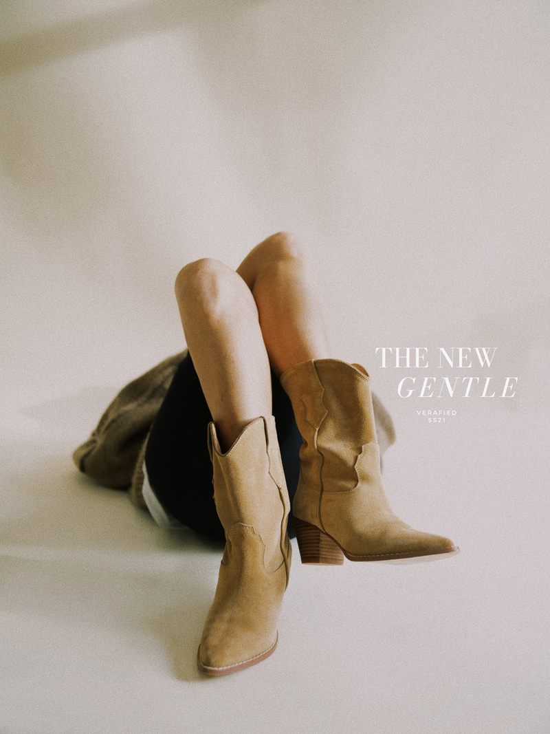 #THE NEW GENTLE# Cowboy Suede Boots