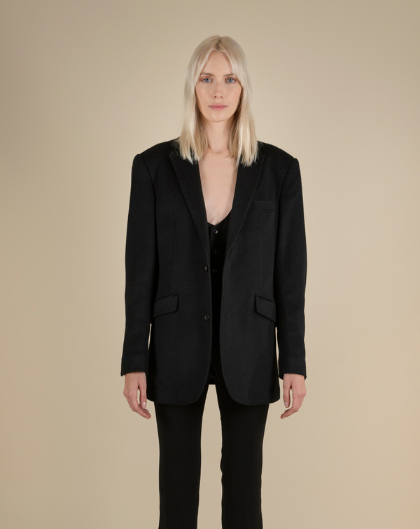 #The New Gentle# Virgin Wool and Cashmere-Blend Blazer(Unisex)