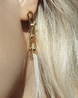 #COMFORTZONE# Nomo Gold Chain Link Earrings
