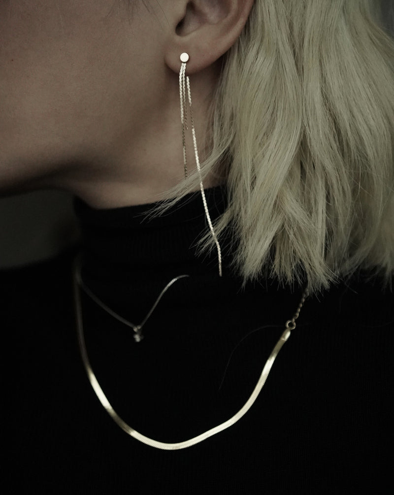 #COMFORTZONE# Yves Thin Chain Earrings