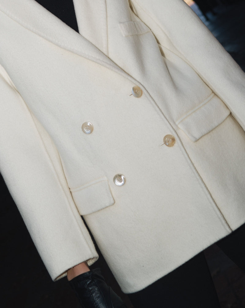 #COMFORTZONE# Jaydn Cream Wool Coat