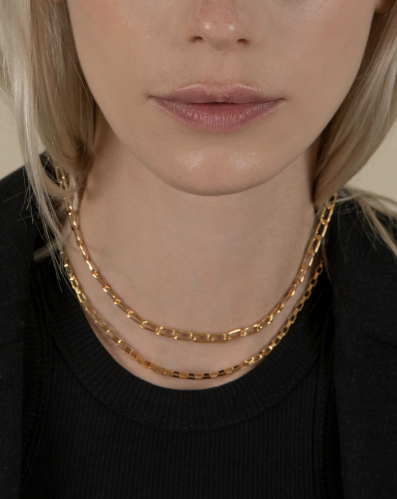#The New Gentle# Golden Hour Small Link Chain Necklace