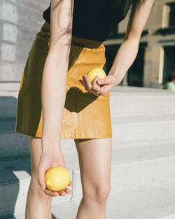 #SLowLife# Mango Vegan Leather Skirt