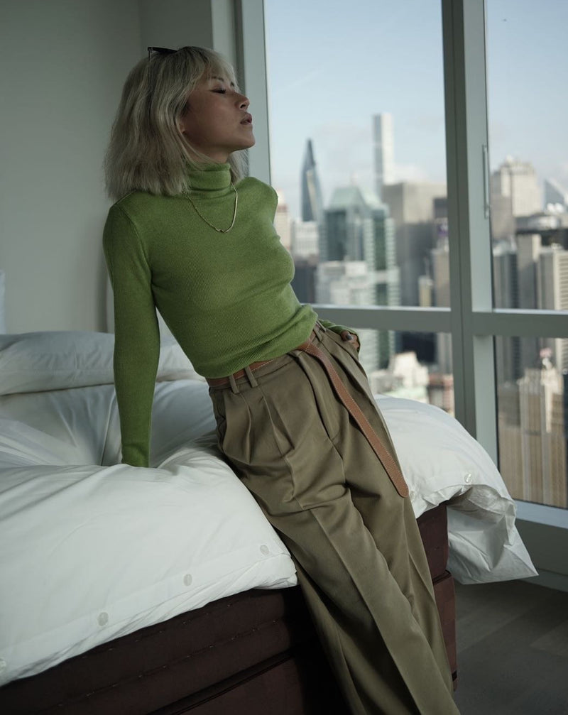 #COMFORTZONE# HARRI Avocado TurtleNeck
