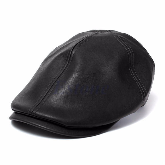 A newsboy hat made of faux-leather, with a longer and doubled bill, makes it not just stylish, but an unavoidably classy men's accessory.