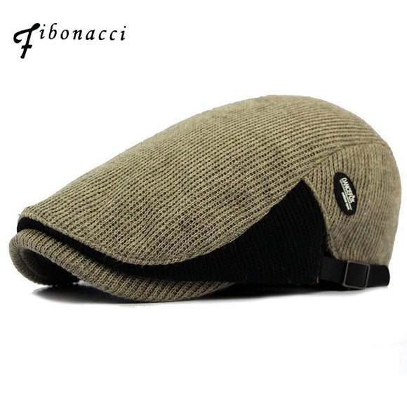 Brummen Hot Retro Men's Newsboy Wool Knitted Cabbie Golf Hat - Brummen Store