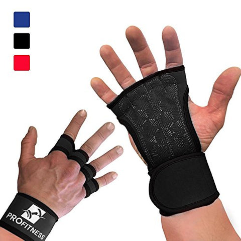 Workout Gloves Wrist Wrap Best Workout Glove for Weight Lifting, Gym Workouts (Black, Medium)
