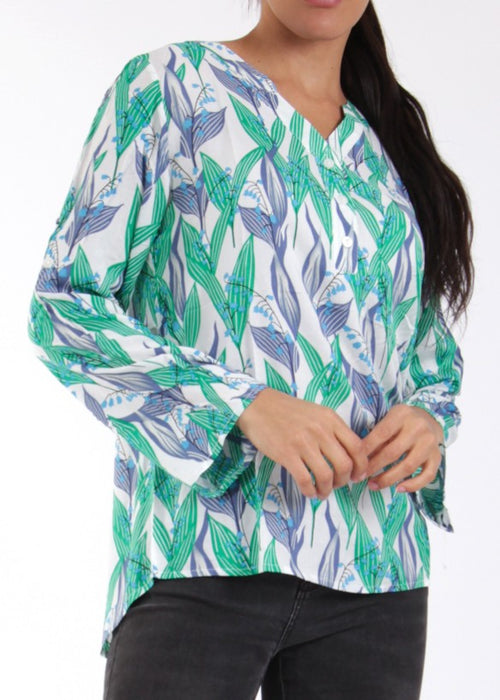 LIGA - Floral Shirt - Blue/Green