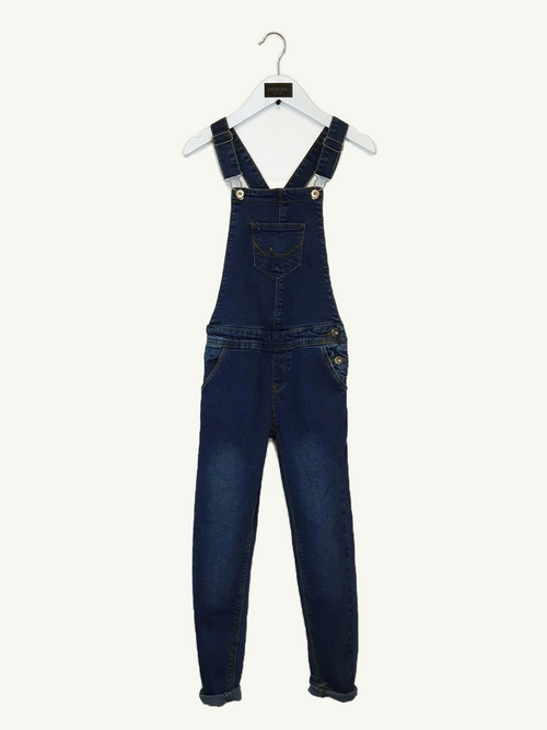 DIXIE - Girls Denim Dungarees