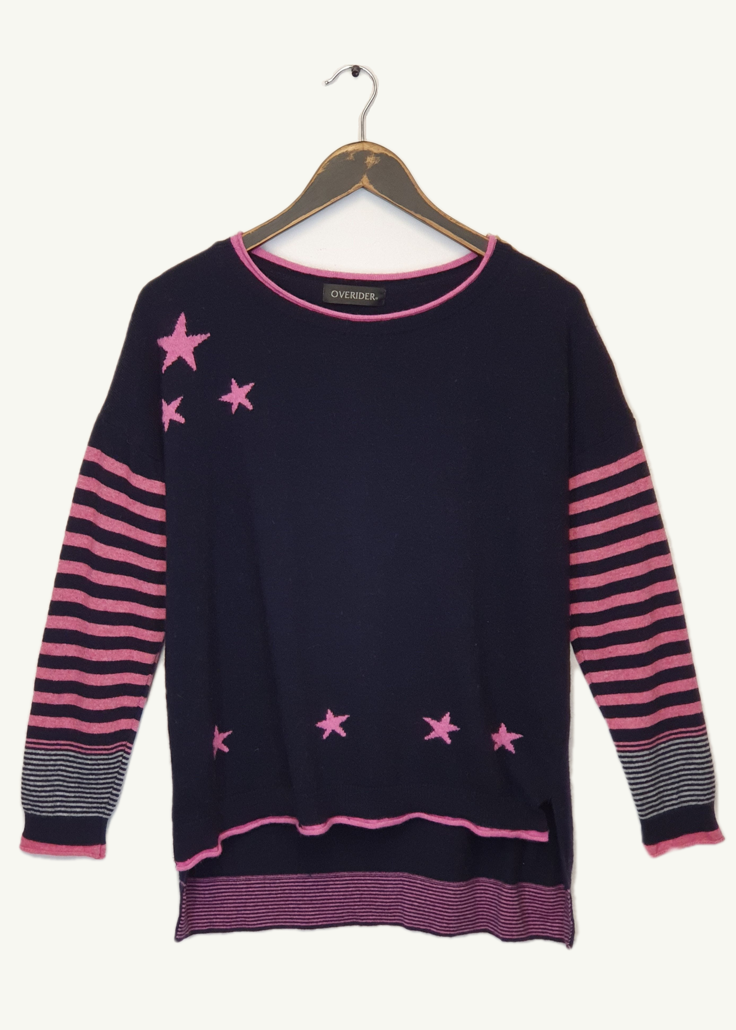 LIANA - Stars & Stripes Jumper - Navy / Fuscia