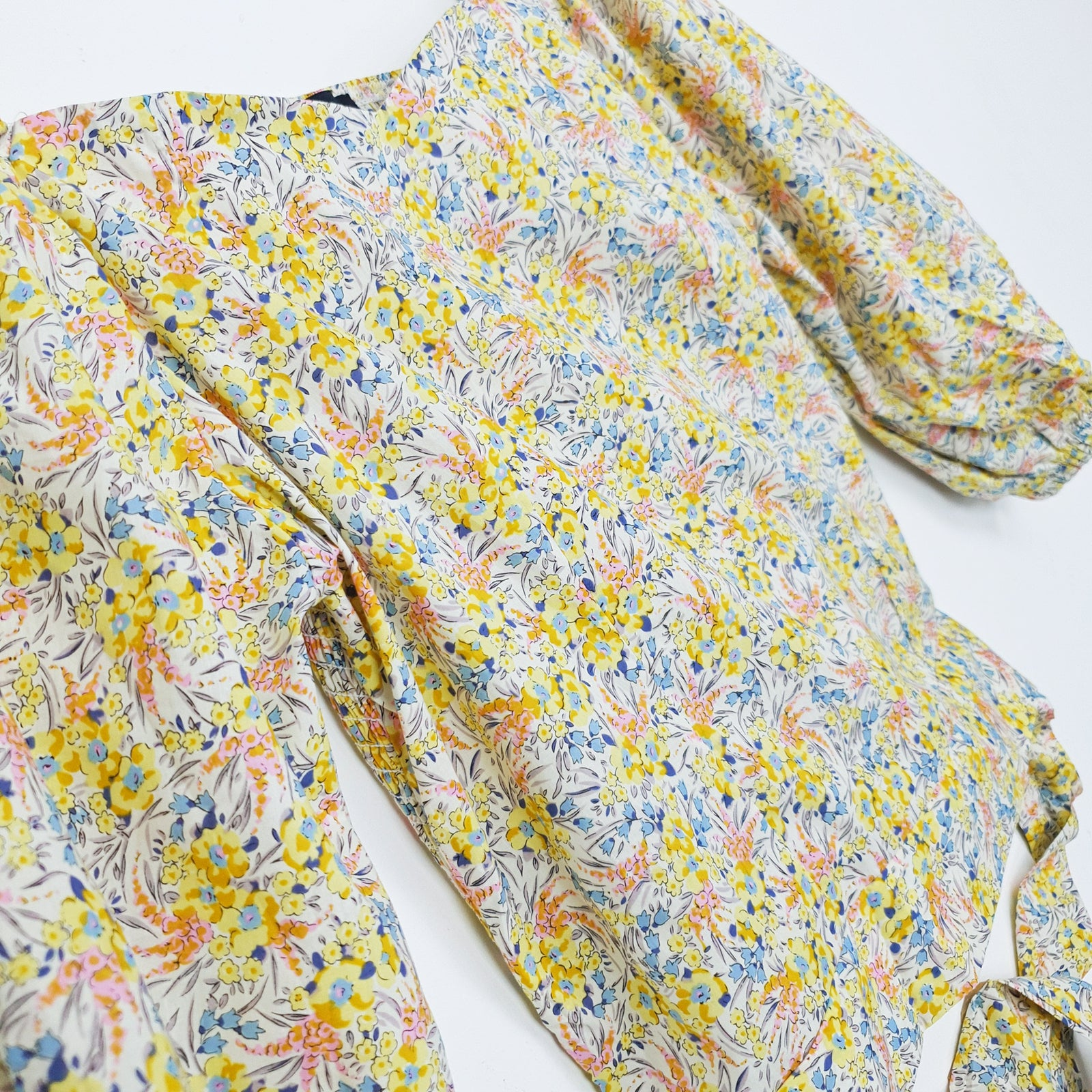 NEW | NOA | Floral Wrap Blouse| Yellow