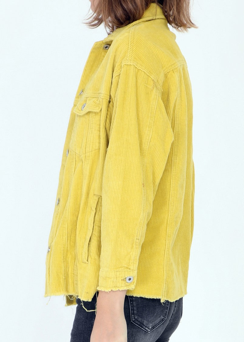 CLAUDIE - Corduroy Cotton Jacket - Ceylon Yellow