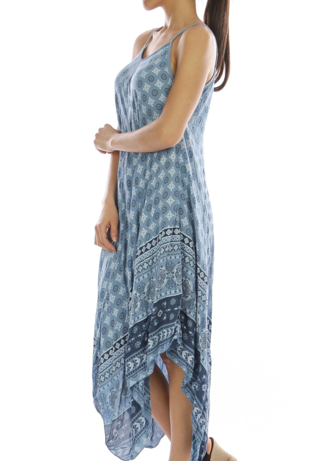 ALISEE - Summer Dress - Mid Blue