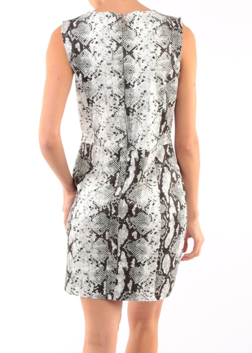 CARYN - Snake Print Vegan Suede Dress