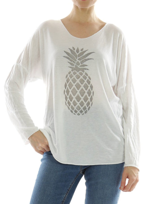 LEELA - Pineapple Top - White