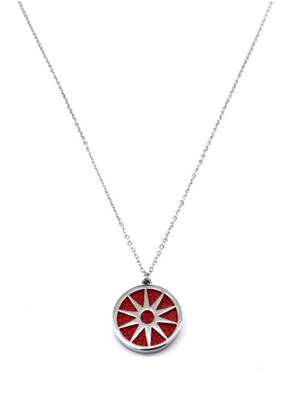 ANAIS - Necklace - Silver & Red