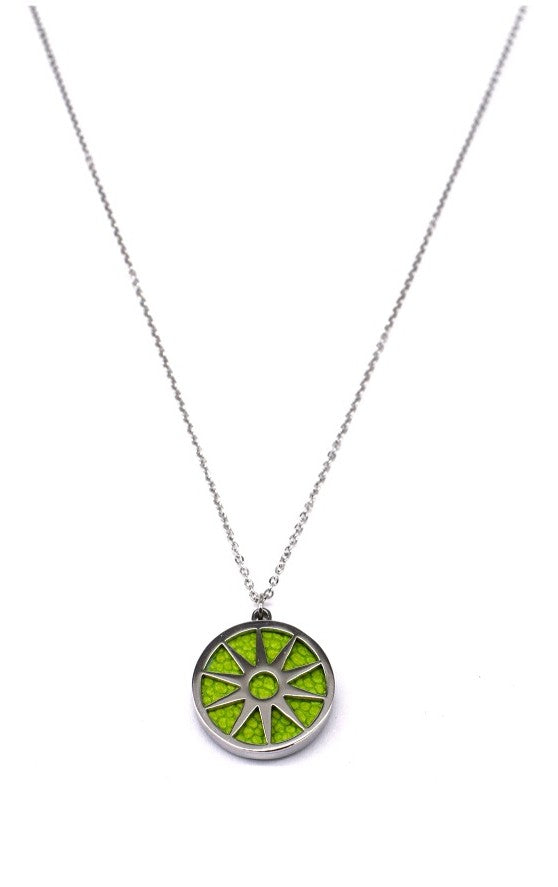 ANAIS - Necklace - Silver & Green