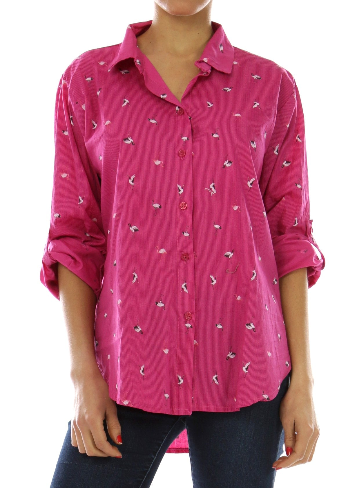 CODI - Flamingo Shirt - Fuscia