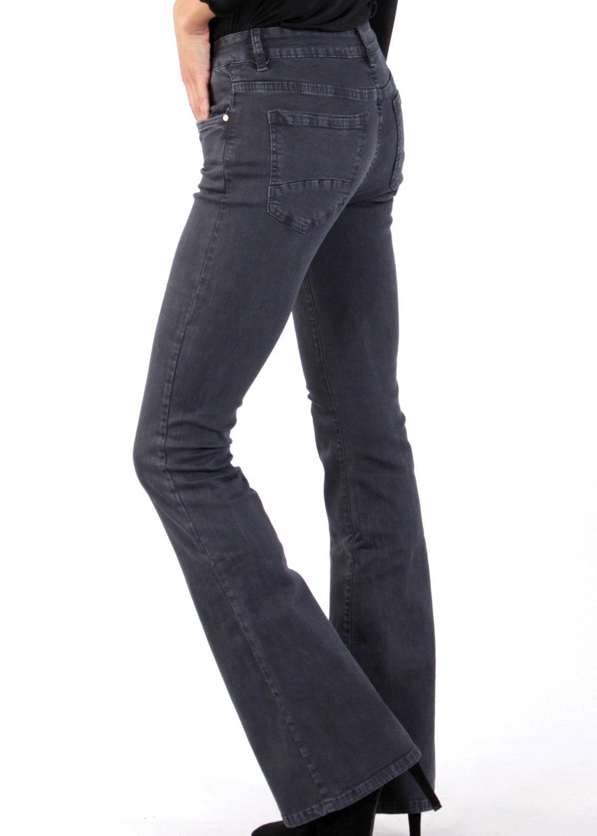 REGINE - Flared Jeans - Grey