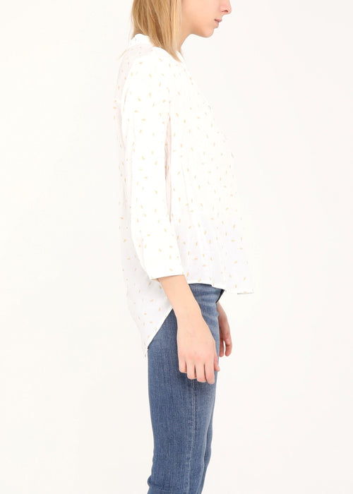 ANANAS - Patterned Blouse - White