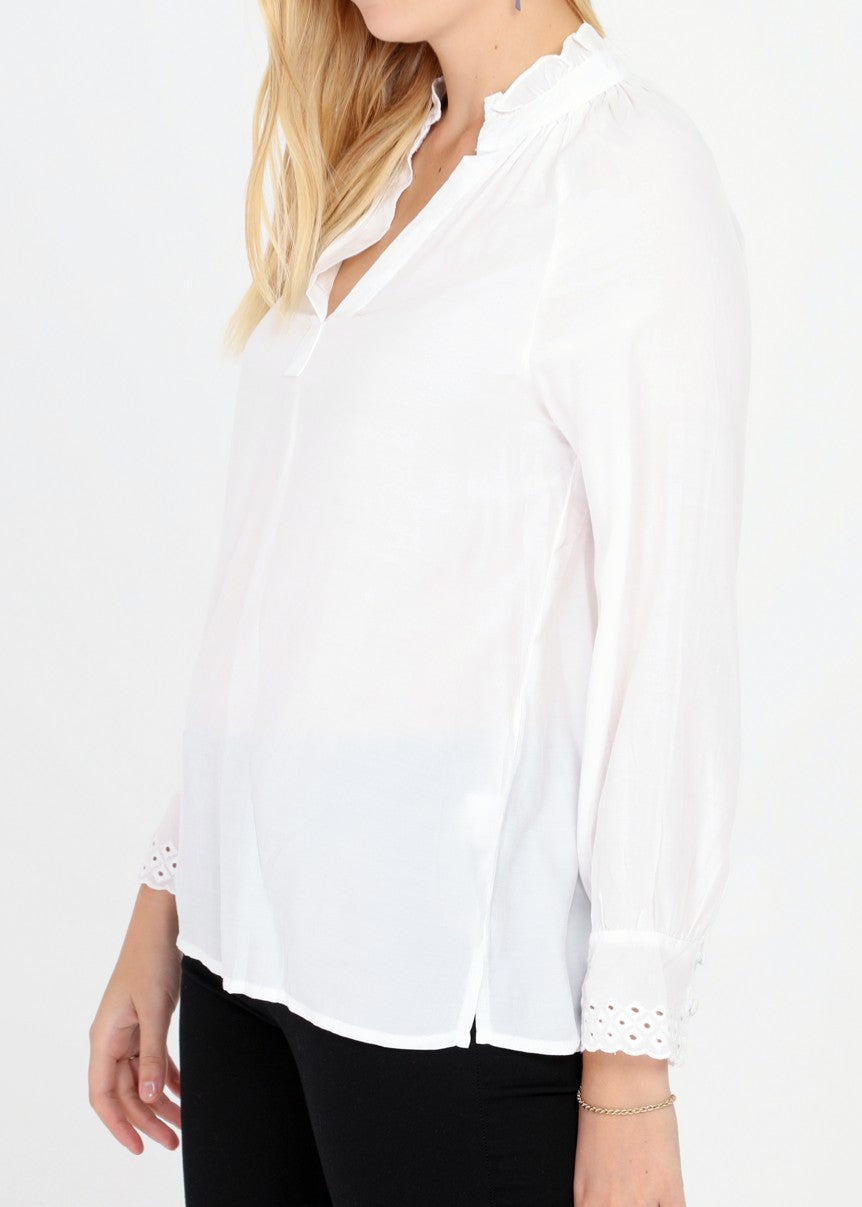 EVA - Cotton Blouse - White