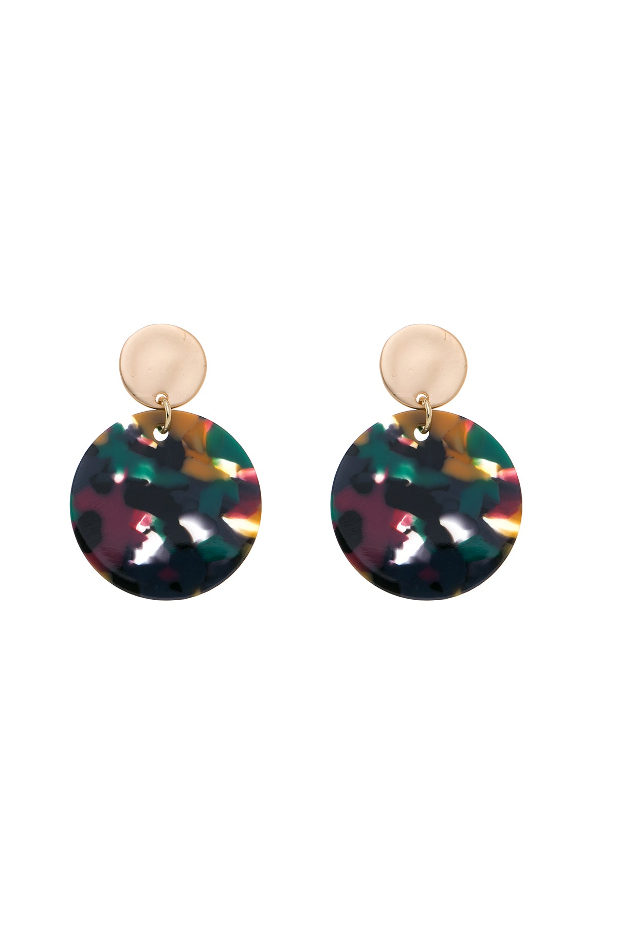 TILLI - Tortoiseshell Disc Earrings