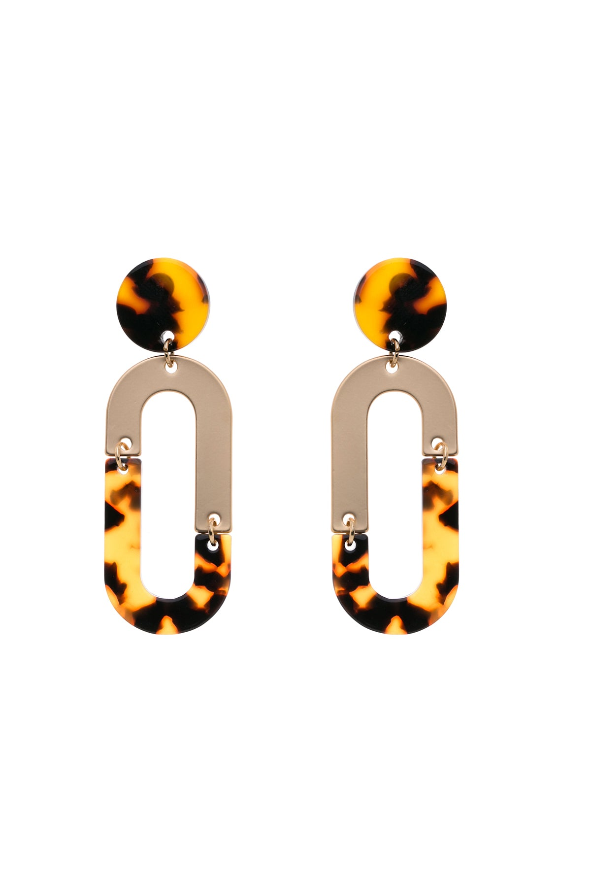 LEIA - Tortoiseshell Split Hoop Earrings