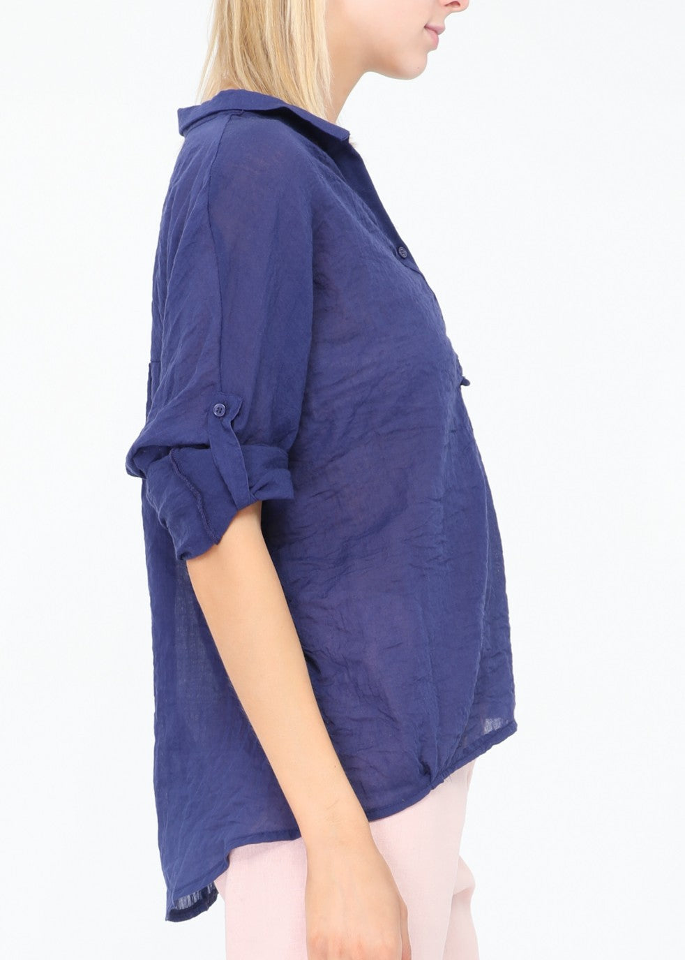 DARLA - Summer Shirt - Dark Blue