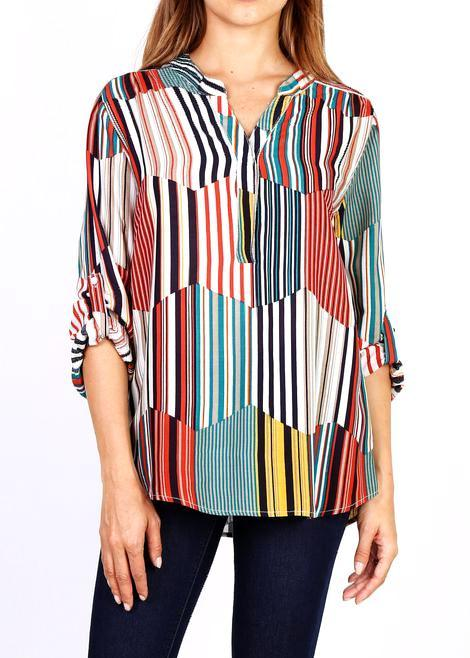 INES - Multi Stripe Blouse