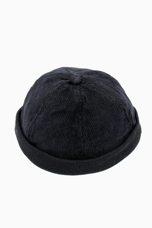 MATILDA | Cord Docker Hat | Black