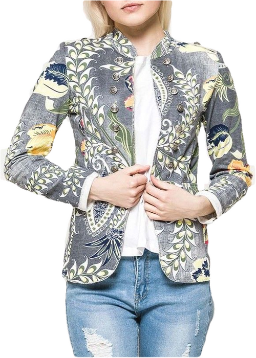 CALA - Floral Military Jacket - Grey