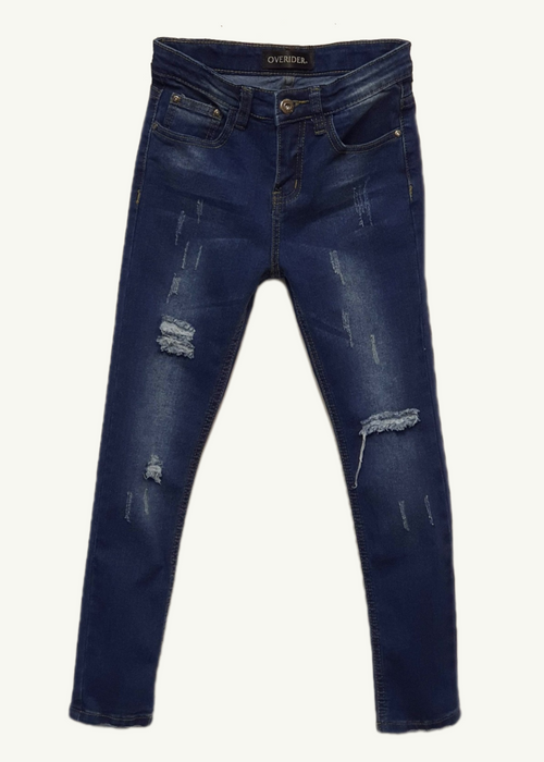 MANON - Girls Distressed Skinny Jeans