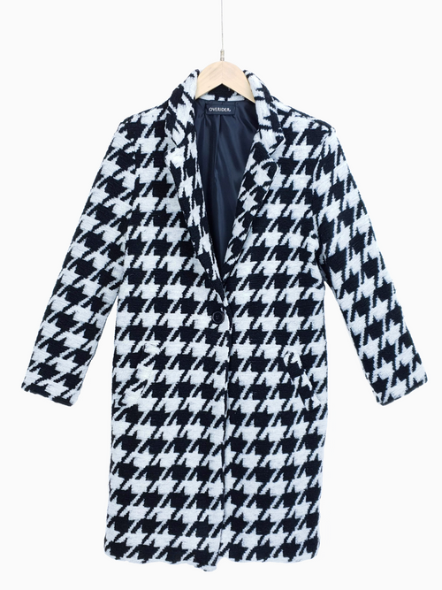 NAIDA | Large Houndstooth Coat - LOW STOCK!