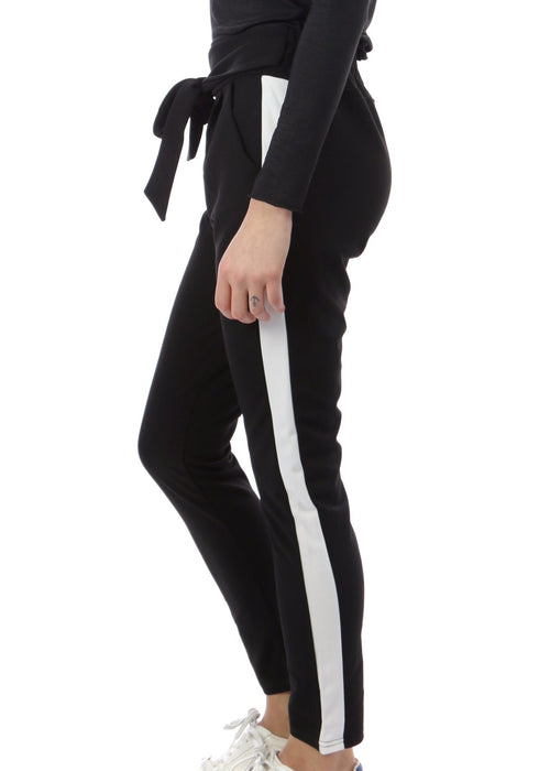 MILENA - Striped Slouch Pants
