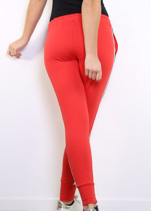 LILOU - Red Sweat Pants