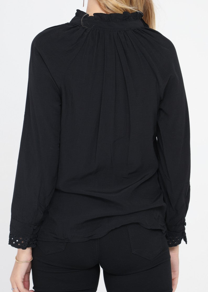 EVA - Cotton Blouse - Black