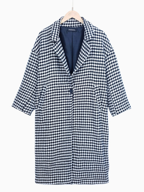 KARINA | Houndstooth Long Coat | LOW STOCK!