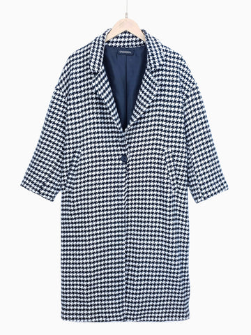 VERONIKA | Houndstooth Long Shacket
