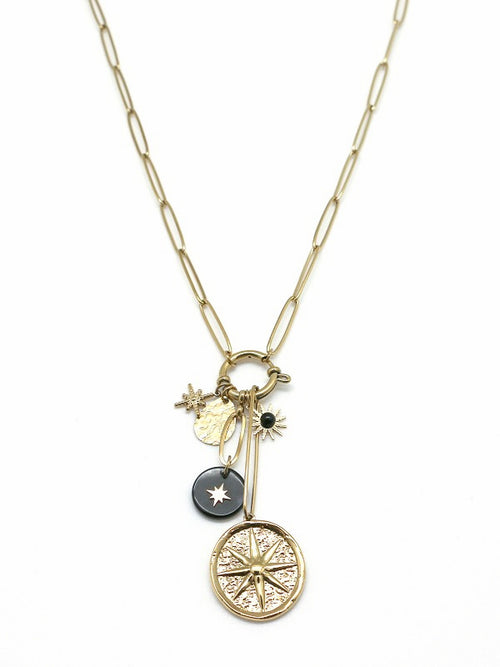 Star & Sun Pendent Necklace