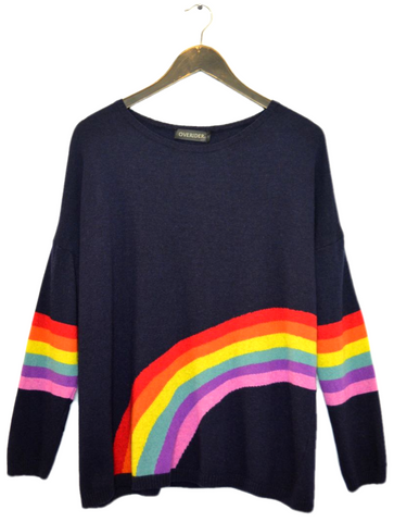 ILANA - Rainbow Jumper - Mid Grey