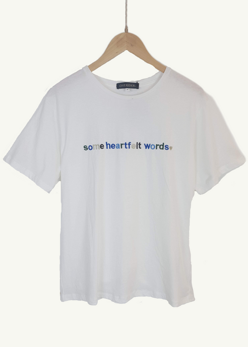 Some Heart Felt Words - Logo T-shirt - White