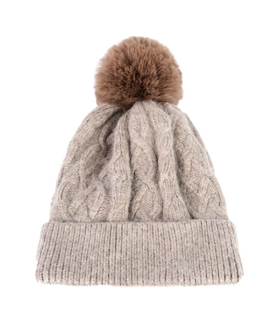 ANYA - Cashmere Bobble Hat | Black