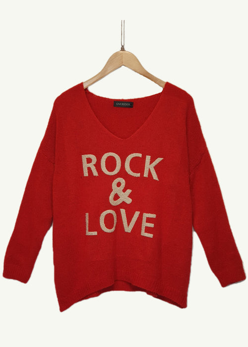 ROCK AND LOVE  - Knitted Jumper - Red