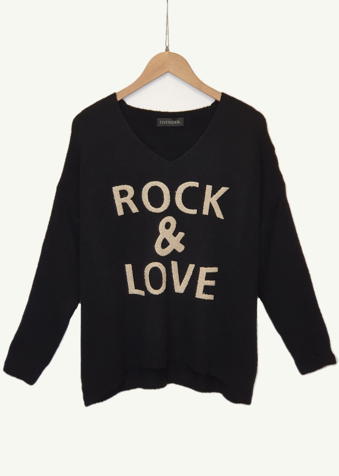 ROCK AND LOVE  - Knitted Jumper - Black