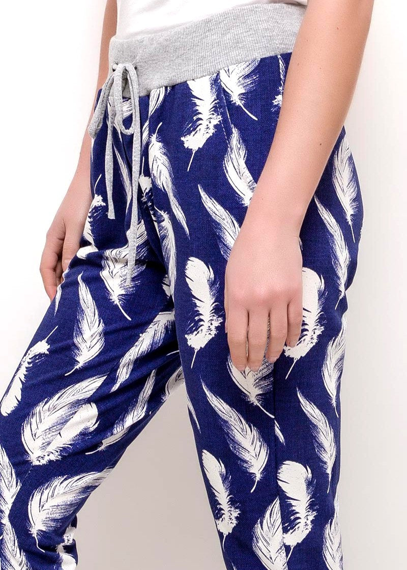 ZOFIA - Feather Slouch Pants