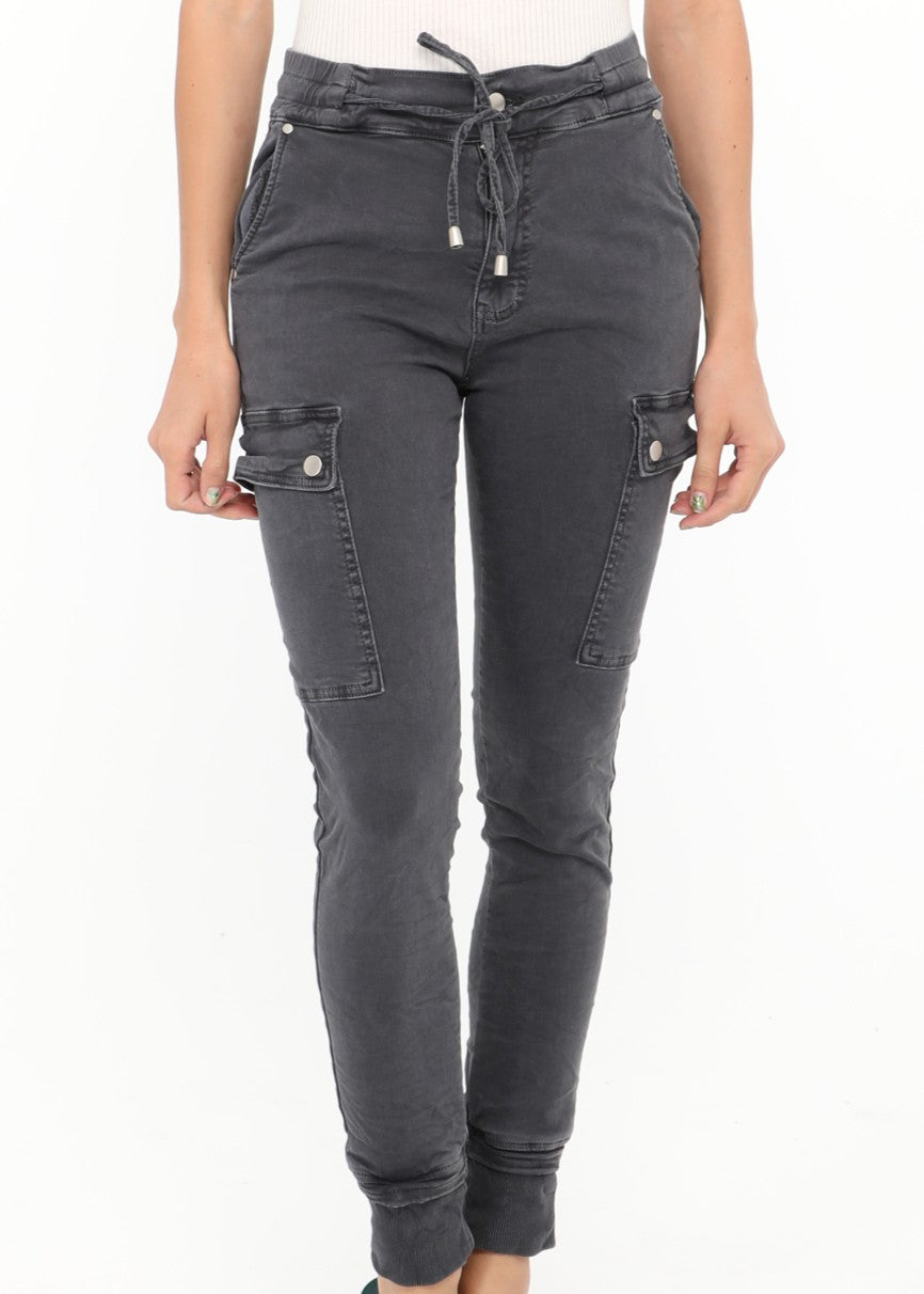 NATACHA  - Combat  Pocket Jeans  -  Anthracite