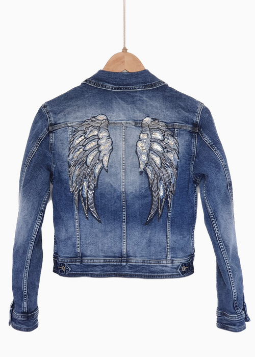 RAPHAELLE | Angel Wing Jacket | Indigo Denim
